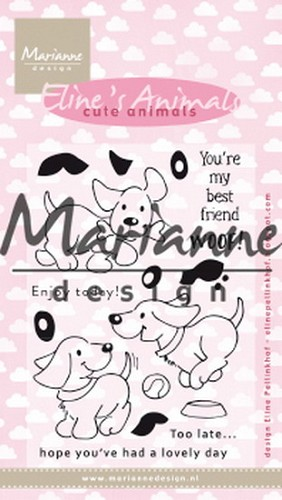 Marianne Design Clearstamps - Eline`s Cute Animals - puppies