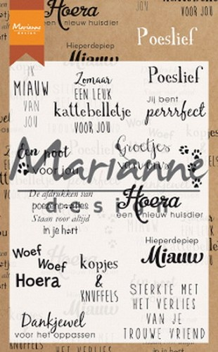 Marianne Design Clearstamps - poeslief
