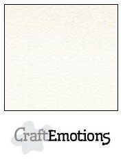 Craft Emotions Fluweelstructuur Karton - 12 x 12 inch - wit