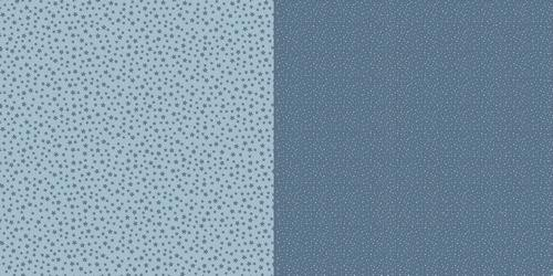 Scrappapier Dini Design - Dots/Flowers - swedish blue