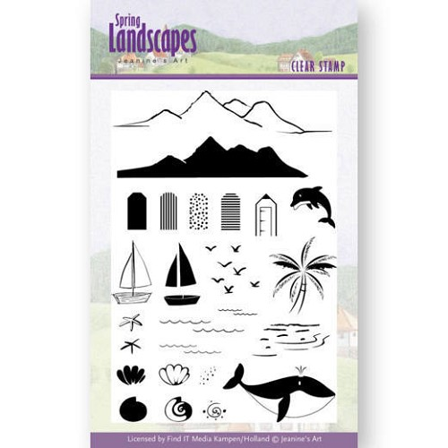 Clearstamps Jeanine`s Art - Spring Landscapes - sea
