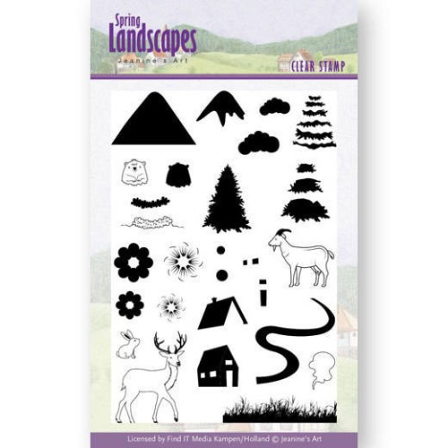 Clearstamps Jeanine`s Art - Spring Landscapes - mountains