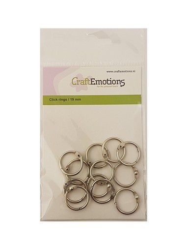 Craft Emotions Klik Ringen (boekbindersringen) - 19 mm