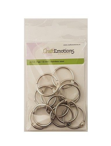 Craft Emotions Klik Ringen (boekbindersringen) - 32 mm