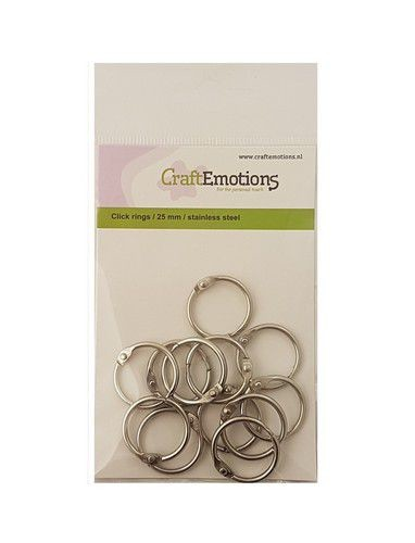 Craft Emotions Klik Ringen (boekbindersringen) - 25 mm