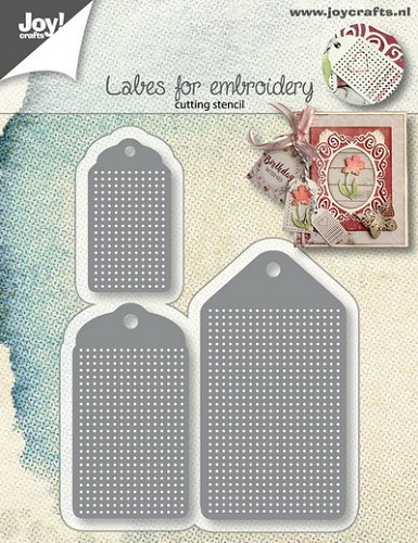 Joy Stencil - labels for embroidery