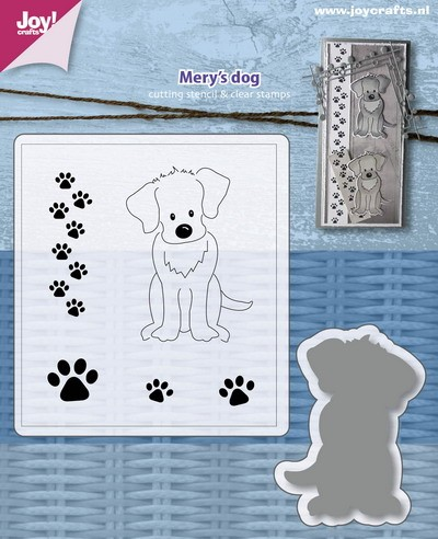 Joy Clearstamps met Stans - Mery`s dog