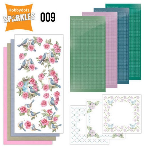 Hobbydots Sparkles Set 009 - birds and roses
