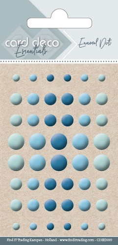 Card Deco Essentials - enamel dots - blue