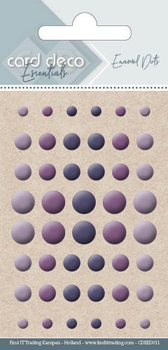 Card Deco Essentials - enamel dots - purple
