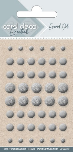 Card Deco Essentials - enamel dots - pearl silver