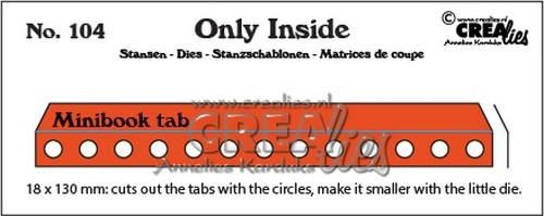 Crealies Stans - Only Inside 104 - mini book holes with tab
