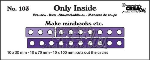 Crealies Stans - Only Inside 103 - mini book holes