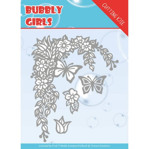 Yvonne Creations Stans - Bubbly Girls - flower corner