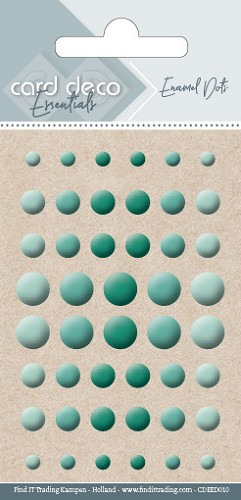 Card Deco Essentials - enamel dots - green