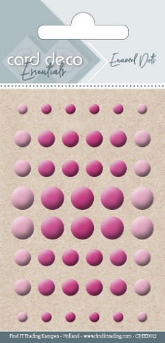 Card Deco Essentials - enamel dots - bright pink