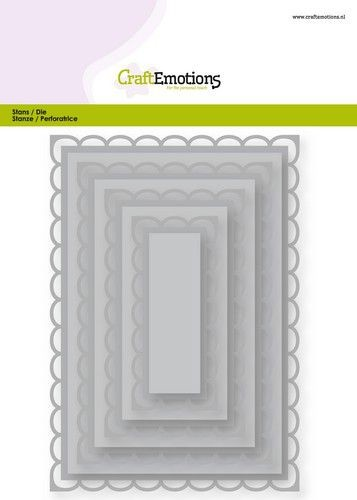 Craft Emotions Stans - open rectangles scalop XL