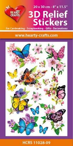 Hearty Crafts 3D Relief Stickers - butterflies