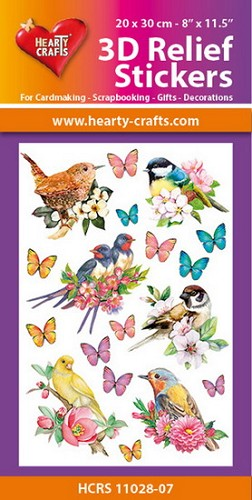 Hearty Crafts 3D Relief Stickers - birds