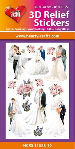 Hearty Crafts 3D Relief Stickers - wedding