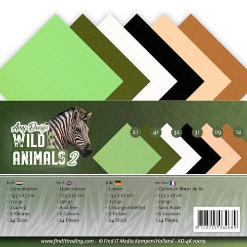 Linnenkarton Amy Design - Wild Animals 2 (vierkant)