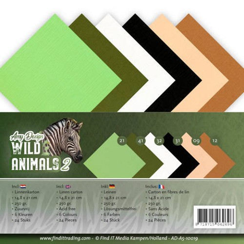 Linnenkarton Amy Design - Wild Animals 2 (A5)