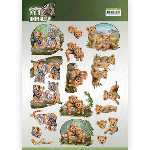 Knipvel Amy Design - Wild Animals 2 - CD11302