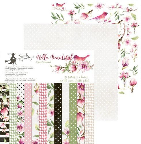 Paper Pad Piatek - Hello Beautiful - 6 x 6 inch