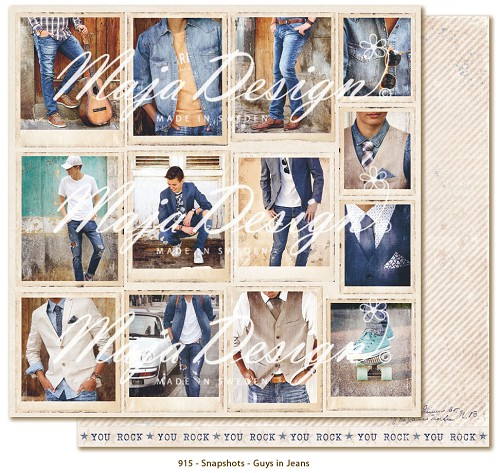 Scrappapier Maja Design - Denim & Friends - Snapshots - Guys in Jeans