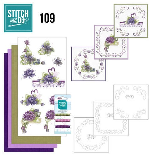 Stitch and Do Pakket - summer dahlia`s