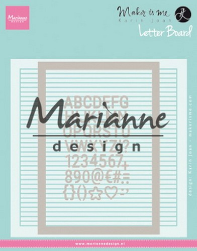 Marianne Design Embossing Folder Extra - Karin Joan`s letter board