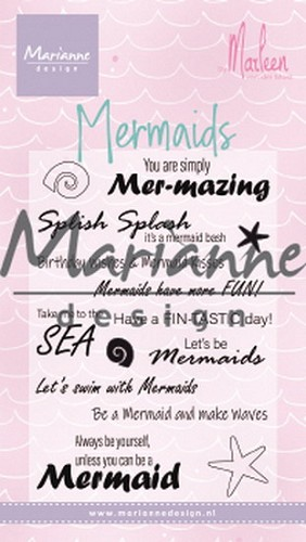 Clearstamps Marianne Design - Mermaids