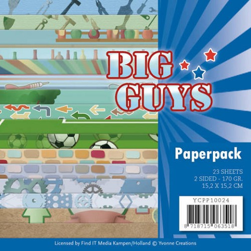 Paper Pack Yvonne Creations - Big Guys