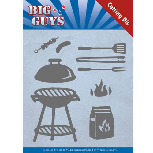 Yvonne Creations Stans - Big Guys - bbq time