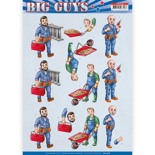 Knipvel Yvonne Creations - Big Guys CD11328