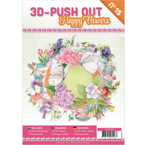 3D Push Out Book - happy flowers