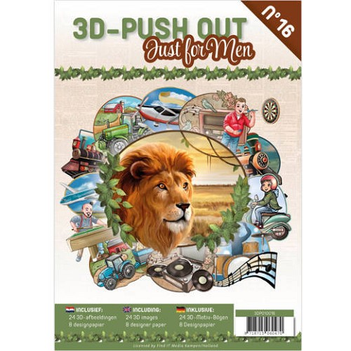 3D Push Out Book - just for men