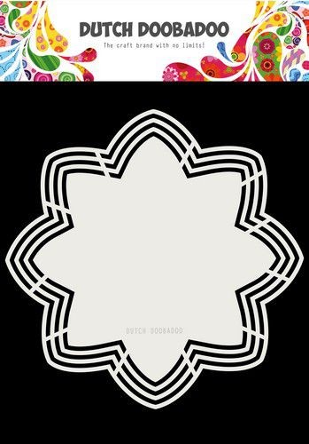 Dutch Doobadoo Shape Art - octo flower