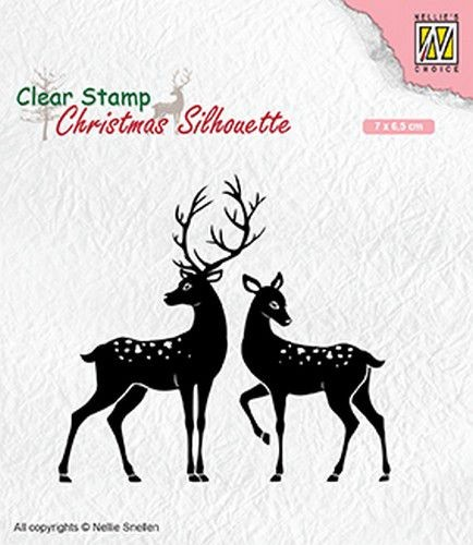 Clearstamp Nellie Snellen - Christmas Silhouette - deer