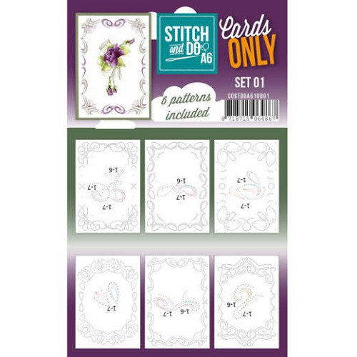 Stitch and Do Cards Only A6 - set 1