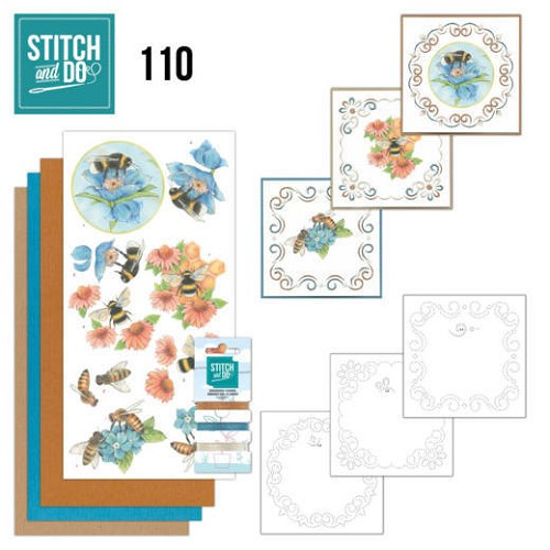 Stitch and Do Pakket - bees and flowers