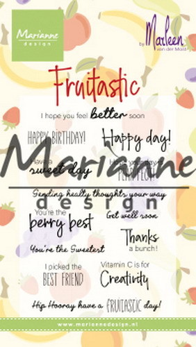 Marianne Design Clearstamps - fruitastic