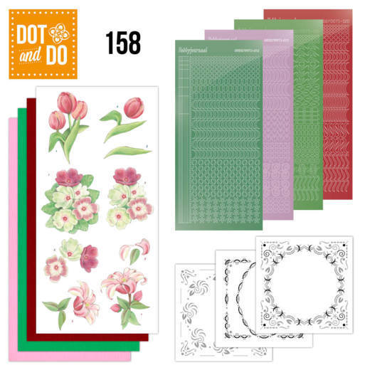 Dot & Do Hobbydots Pakket - red flowers