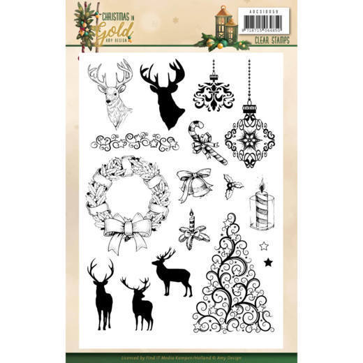 Clearstamps Amy Design - Christmas in Gold