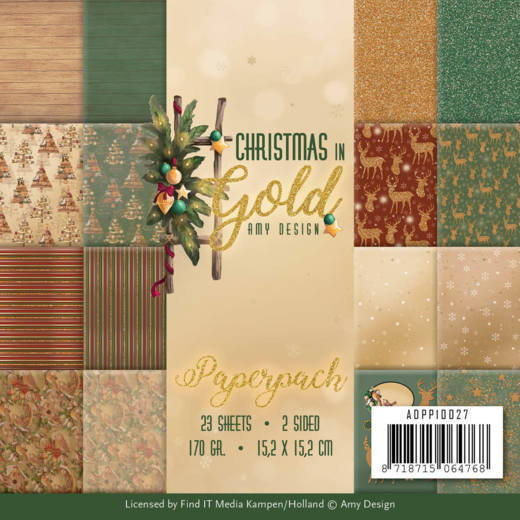 Paper Pack Amy Design - Christmas in Gold