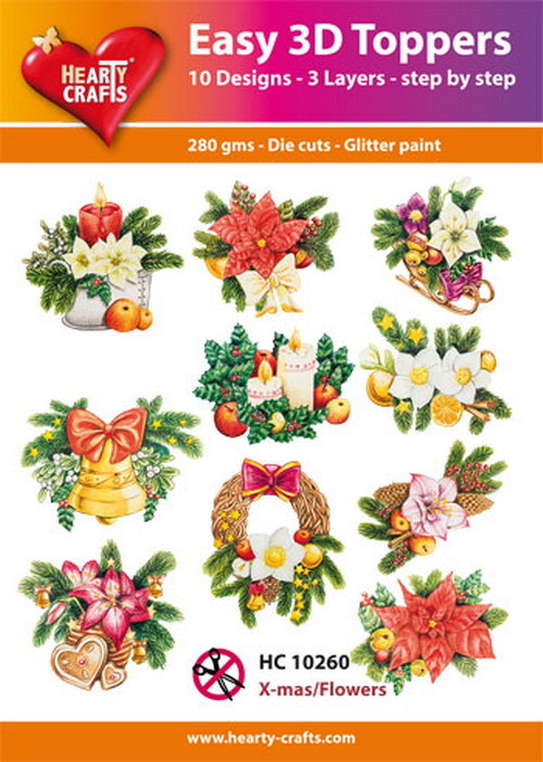 Easy 3D Toppers - X-mas/Flowers