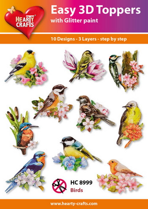 Easy 3D Toppers - birds