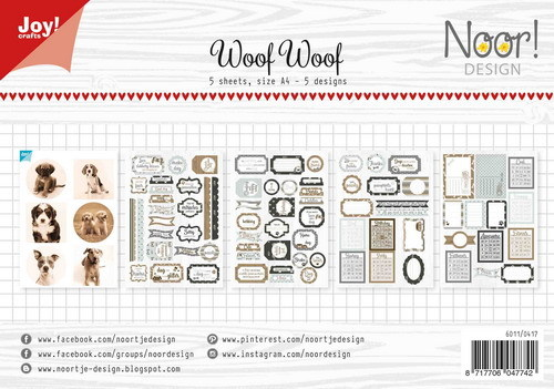 Joy Paper Pack Labelsheets - Woof Woof