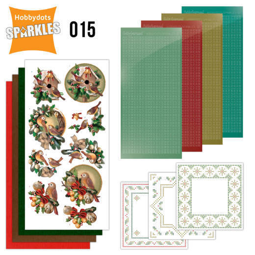 Hobbydots Sparkles set 015 - christmas in gold