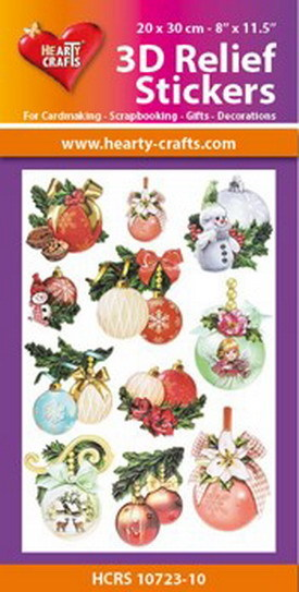Hearty Crafts 3D Relief Stickers - X-mas balls